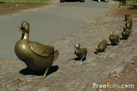 Make Way for Ducklings Sculpture