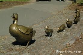 Make Way for Ducklings Sculpture